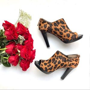 🆕Banana Republic Open Toe Leopard Booties